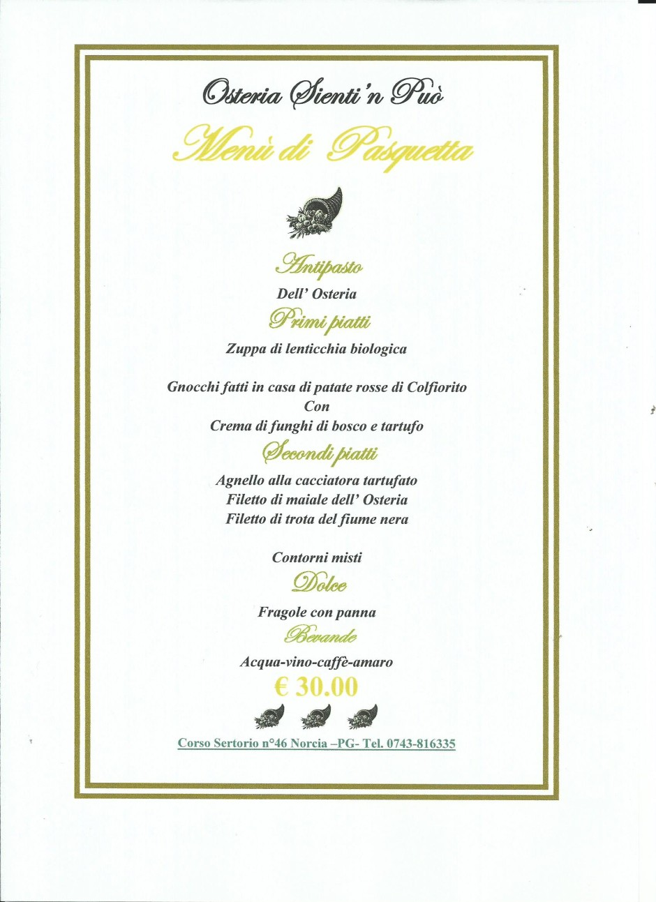 menu di pasquetta 2016